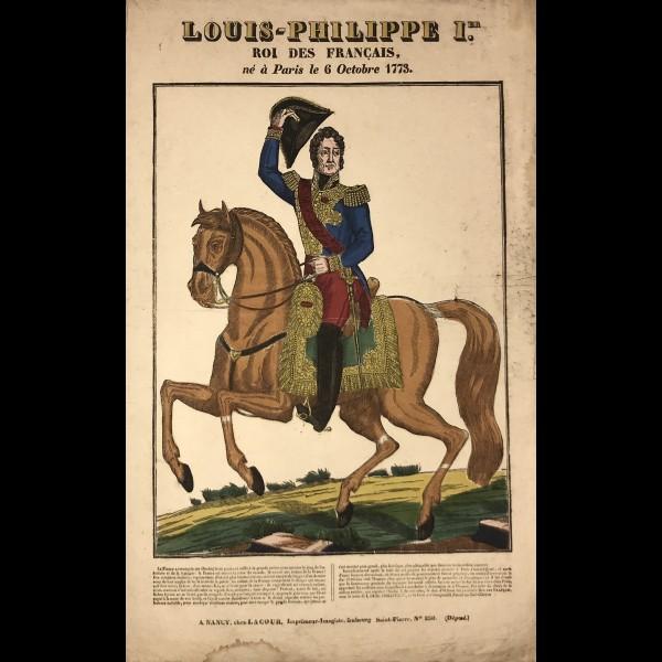 LACOUR (JACQUES STANISLAS PROSPER HUBERT DIT) (actif 1830-1836) - LOUIS-PHILIPPE I, ROI DES FRANÇAIS, NÉ À PARIS LE 6 OCTOBRE 1773
