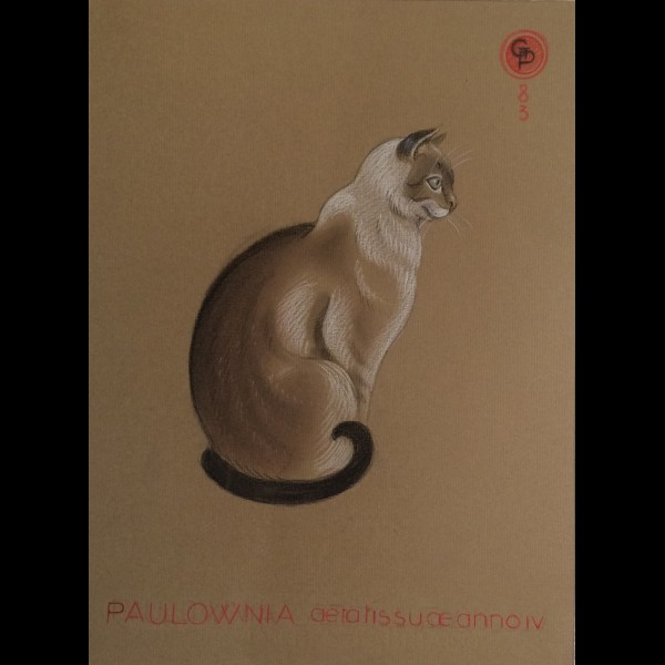 POILLERAT GILBERT  (1902-1988) - CHAT ASSIS