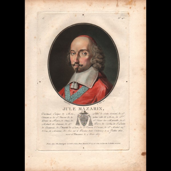 SERGENT-MARCEAU ANTOINE-LOUIS-FRANÇOIS (1751-1847) - JULE ( SIC ) MAZARIN