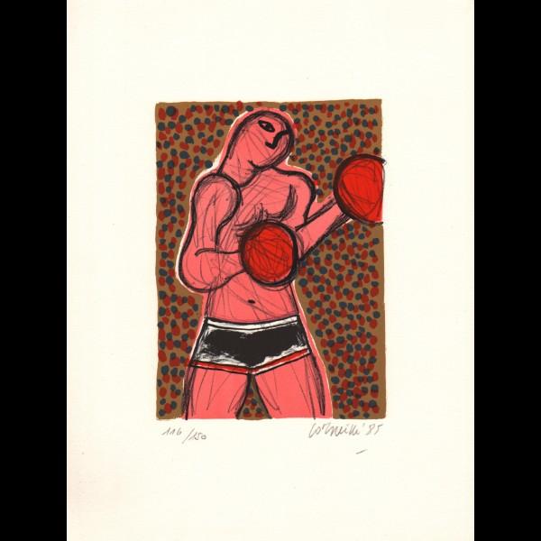 CORNEILLE ( GUILLAUME CORNELIS BEVERLOO DIT )  (1922-2010) - BOXERS