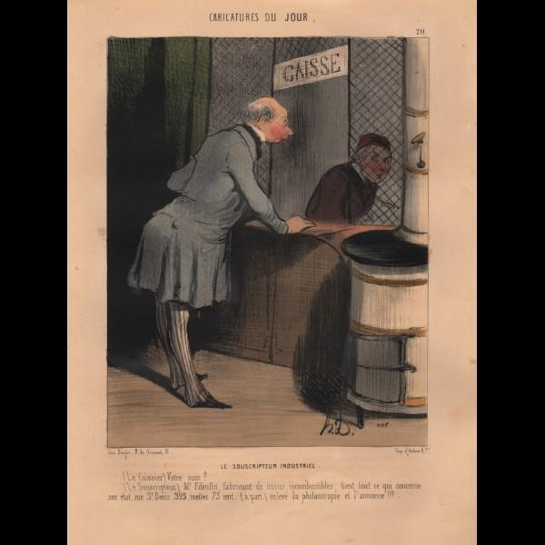 DAUMIER HONORÉ (1808-1879) - LE SOUSCRIPTEUR INDUSTRIEL