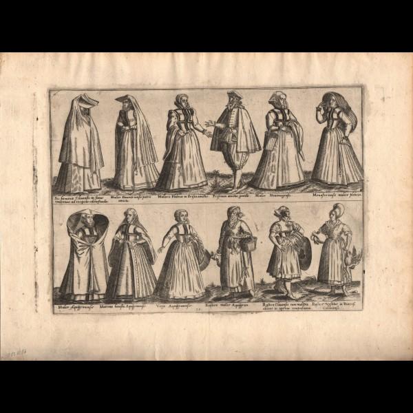 DE BRUYN ABRAHAM (1540?-1587) - DIVERS COSTUMES DE L'ALLEMAGNE