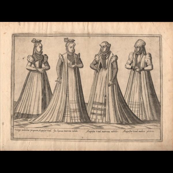 DE BRUYN ABRAHAM (1540?-1587) - DIVERS COSTUMES FEMININS