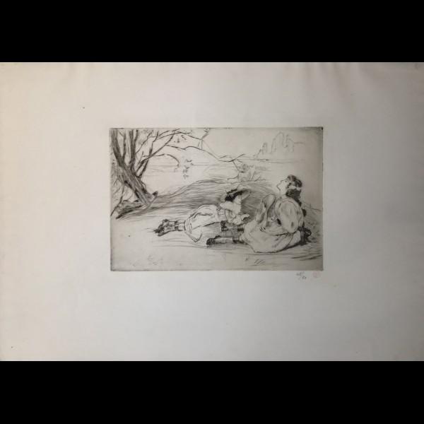 LEGRAND LOUIS  (1863-1951) - A L OMBRE
