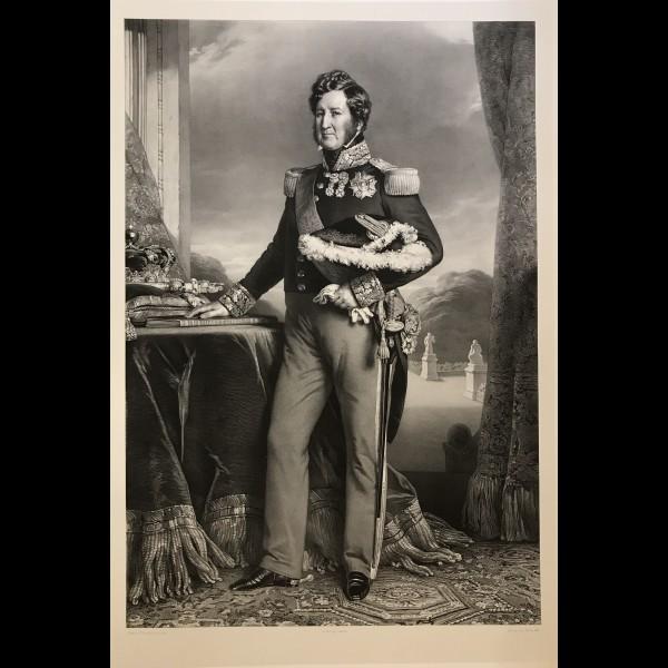 NOËL LÉON  (1807-1884) - PORTRAIT DE LOUIS-PHILIPPE I, ROI DES FRANÇAIS