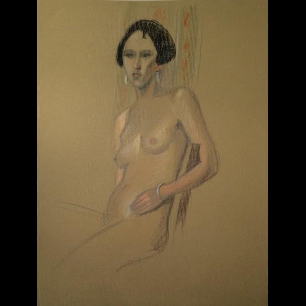 POILLERAT GILBERT  (1902-1988) - NU ASSIS