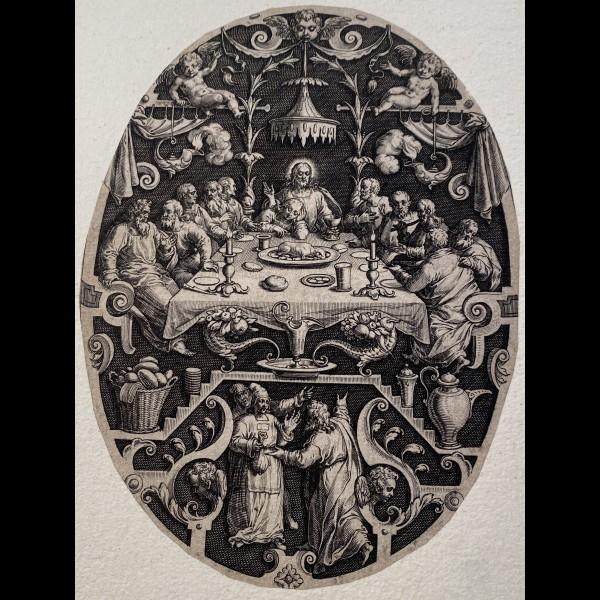 SADELER JOHANNES ( 1550-1600 ) - LA CENE