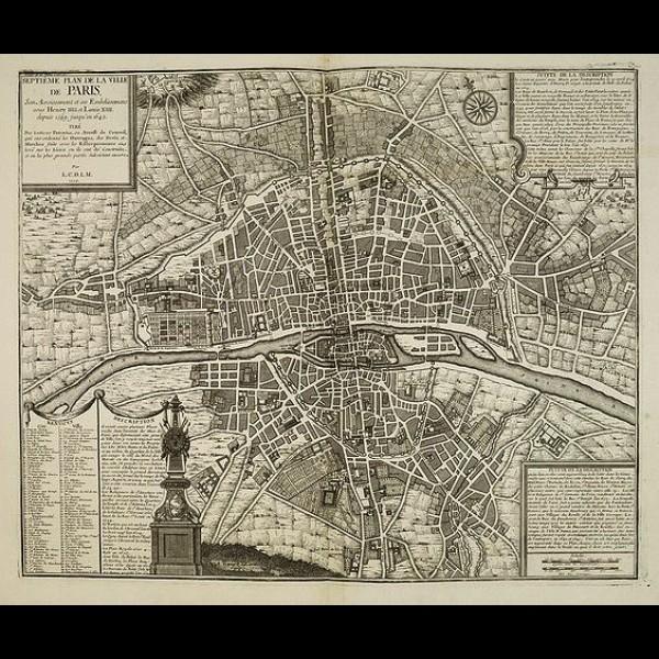 DE LA MARE NICOLAS (1639-1723) - SEPTIÈME PLAN DE LA VILLE DE PARIS