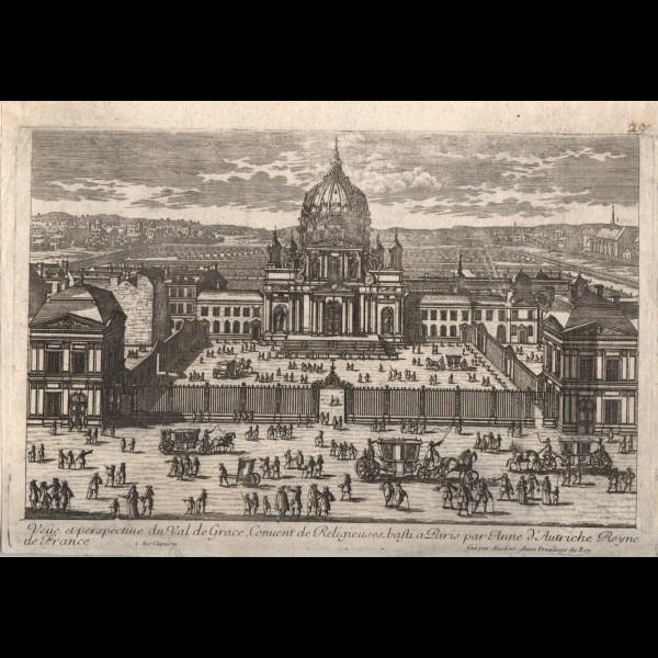 AVELINE FRANCOIS-ANTOINE (1718-178?) - Vue et perspective du Val de Grace, Convent de Religieuses, bâti a Paris par anne d'Autriche Reyne de France