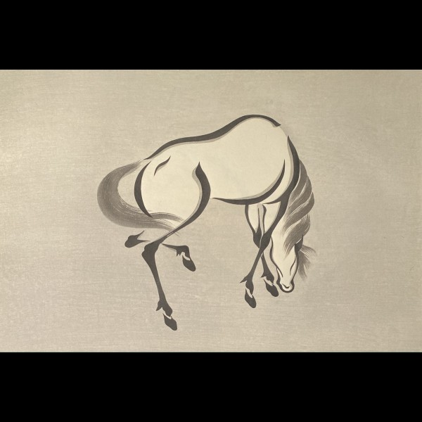AOYAMA SEIZAN ( ACTIF VERS 1930 ) - CHEVAL BROUTANT