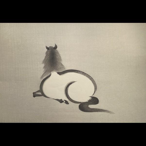 AOYAMA SEIZAN ( ACTIF VERS 1930 ) - CHEVAL SAUVAGE