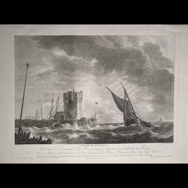 LEVEAU JEAN-JACQUES (1729-1786) - ARRIVEE DE FLESSINGUE