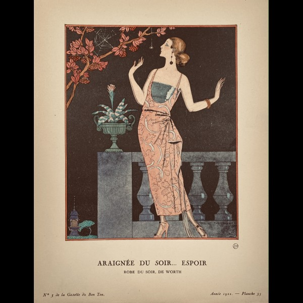 BARBIER GEORGES ( 1882-1932  ) - ARAIGNEE DU SOIR... ESPOIR