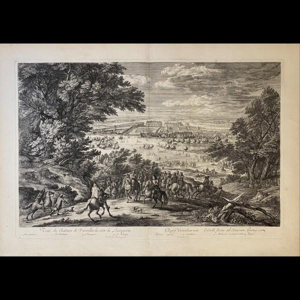 BAUDUINS ANTOINE-FRANCOIS  (1640 1700) - VEUE DU CHASTEAU DE VERSAILLES DU COSTE DE L'ORANGERIE ( SIC )