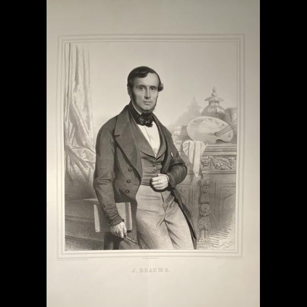 BAUGNIET CHARLES ( 1814-1886 ) - PORTRAIT DE J.BEAUME
