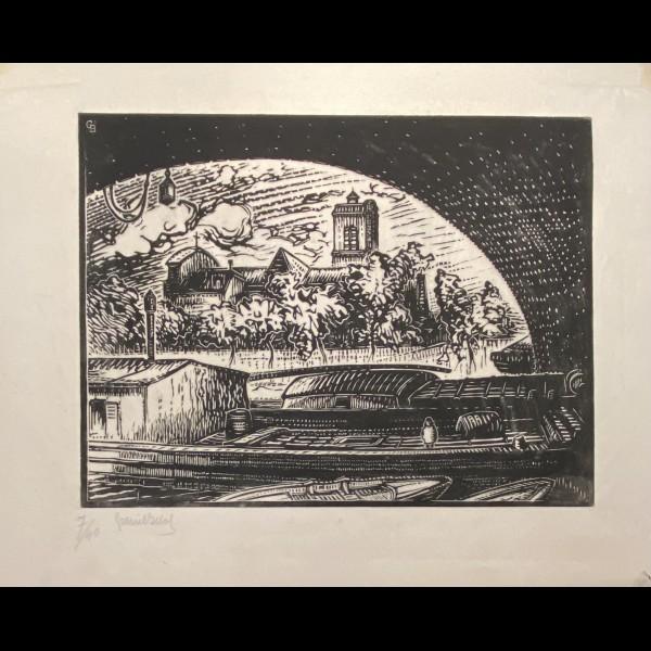 BELOT GABRIEL ( 1882-1962 ) - SUR LA SEINE, PARIS