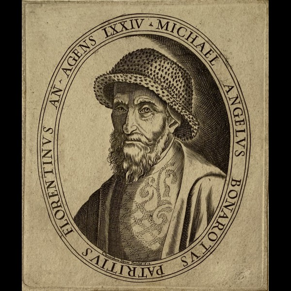 BIANCHI OU BLANCUS CRISTOFANO ( ACTIF A ROME CA.1598-1612 ) - PORTRAIT DE MICHEL ANGE AGE DE 74 ANS