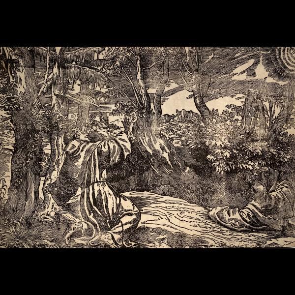 BOLDRINI NICCOLO ( ACTIF CA.1540-1566 ) - ST FRANCOIS RECEVANT LES STIGMATES