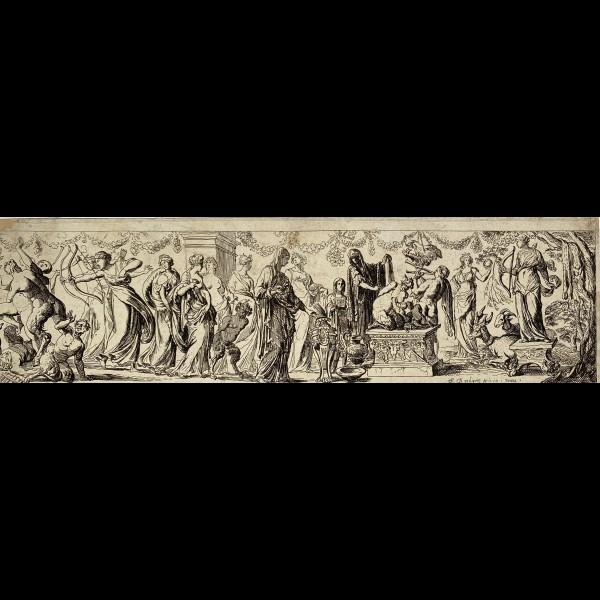 BREBIETTE PIERRE ( 1598- Ca 1650 )  - BACCHANALE