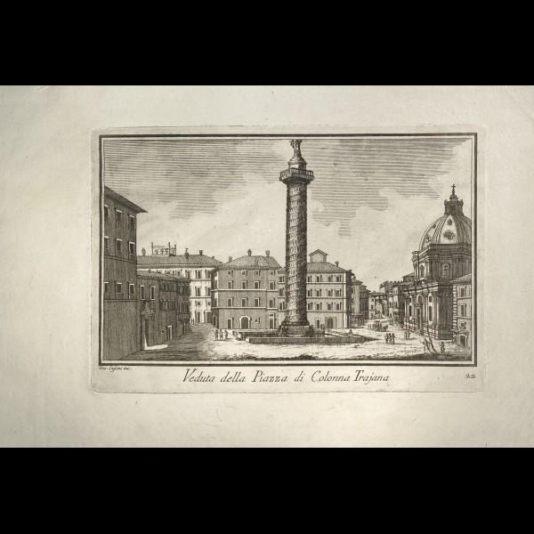 CASSINI  GIOVANNI MARIA (1745-CA.1824) - VEDUTA DELLA PIAZZA DI COLONNA TRAJANA