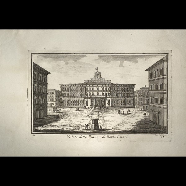 CASSINI  GIOVANNI MARIA (1745-CA.1824) - VEDUTA DELLA PIAZZA DI MONTE CITORIO