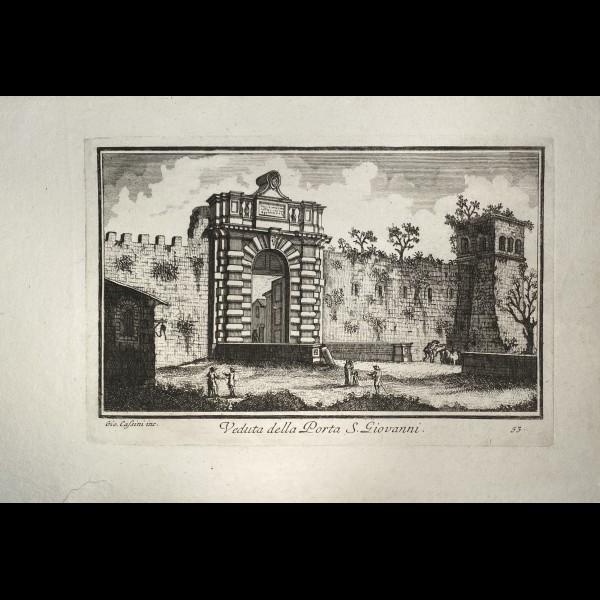 CASSINI  GIOVANNI MARIA (1745-CA.1824) - VEDUTA DELLA PORTA S.GIOVANNI