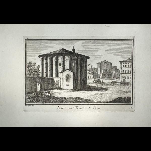 CASSINI  GIOVANNI MARIA (1745-CA.1824) - VEDUTA DEL TEMPIO DI VESTA