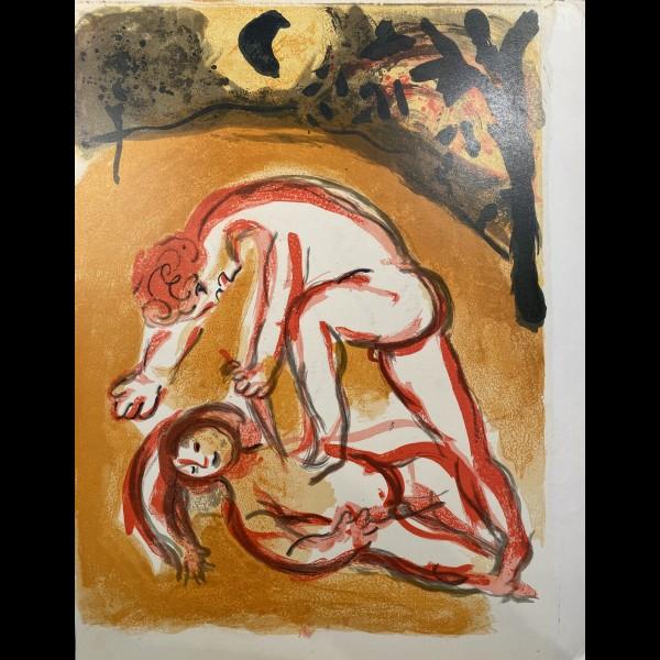 CHAGALL MARC (1887-1985) - CAIN ET ABEL