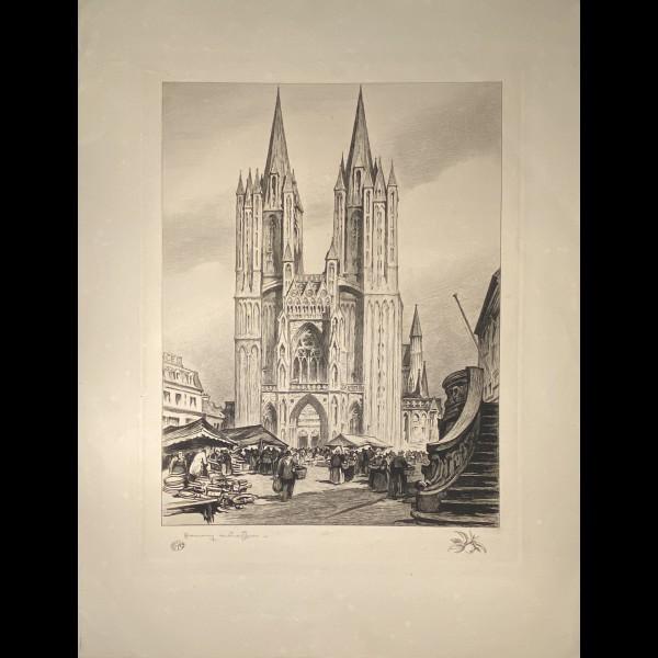 CHEFFER HENRY ( 1880-1957 ) - SCENE DE MARCHE