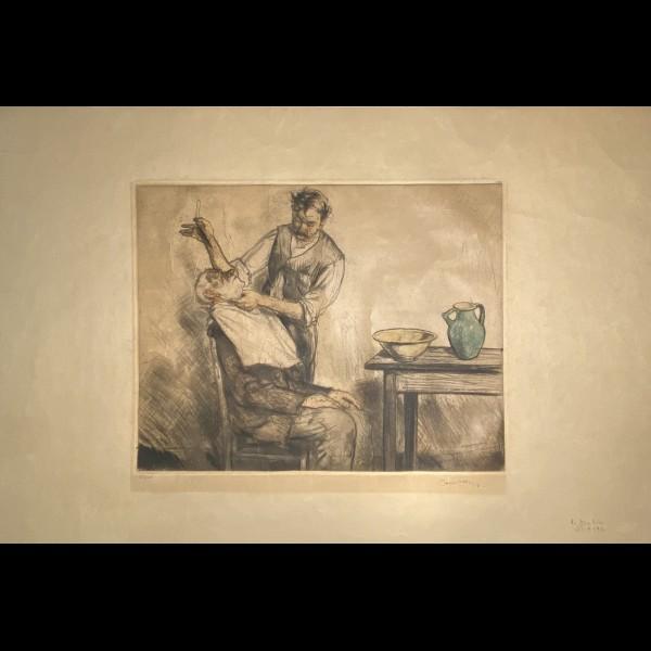 COUSSENS ARMAND (1881-1935) - LE BARBIER