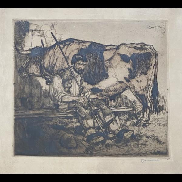 COUSSENS ARMAND (1881-1935) - LE VACHER