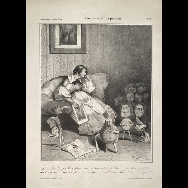 DAUMIER HONORÉ (1808-1879) - CHIMERE DE L'IMAGINATION