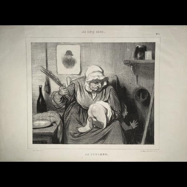 DAUMIER HONORÉ (1808-1879) - LES CINQ SENS