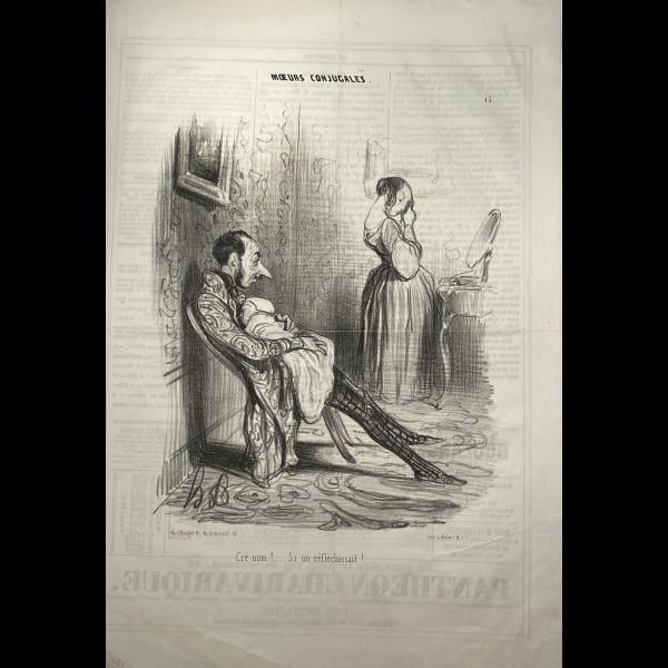 DAUMIER HONORÉ (1808-1879) - MOEURS CONJUGALES