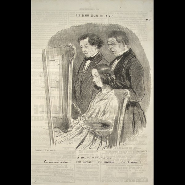 DAUMIER HONORÉ (1808-1879) - LES BEAUX JOURS DE LA VIE