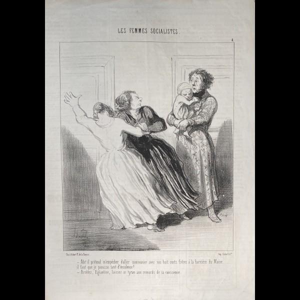 DAUMIER HONORÉ (1808-1879) - LES FEMMES SOCIALISTES