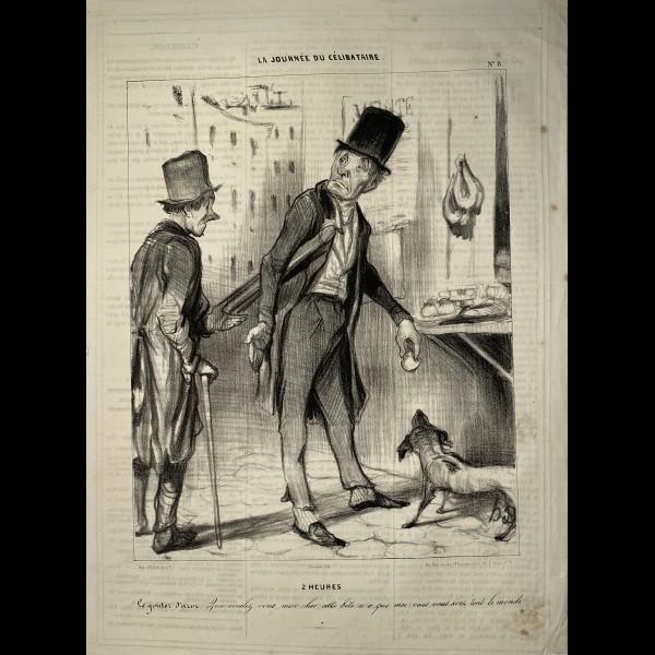 DAUMIER HONORÉ (1808-1879) - LA JOURNEE DU CELIBATAIRE
