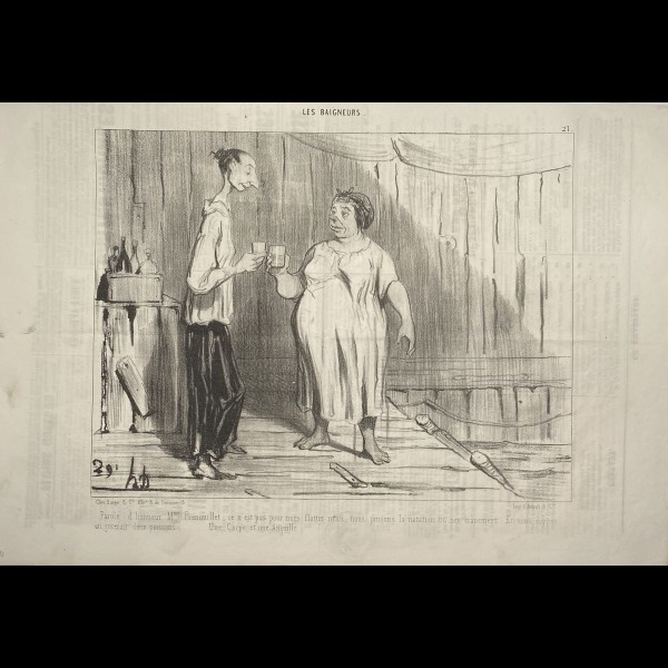 DAUMIER HONORÉ (1808-1879) - LES BAIGNEURS