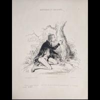 DAUMIER HONORÉ (1808-1879) - PAUVRE JEUNE HOMME