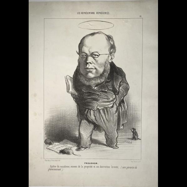 DAUMIER HONORÉ (1808-1879) - LES REPRESENTANTS REPRESENTES