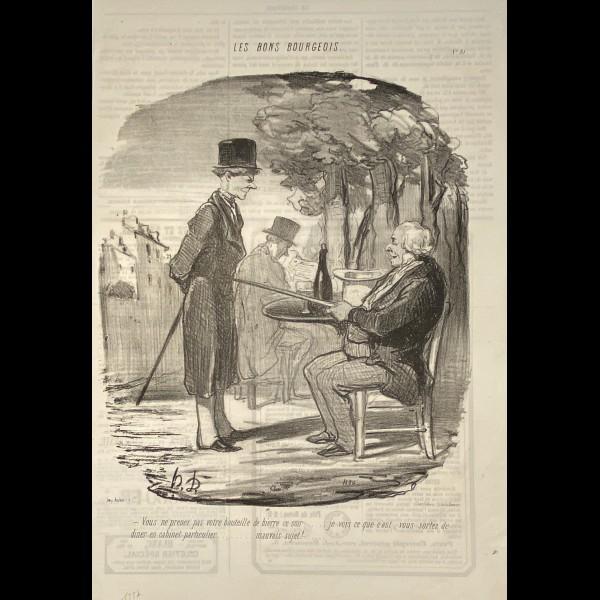 DAUMIER HONORÉ (1808-1879) - LES BONS BOURGEOIS