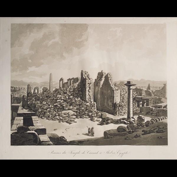 DEBUCOURT LOUIS-PHILIBERT (1755-1832) - RUINES DU TEMPLE DE CARNAK (SIC) A THEBES. EGYPTE