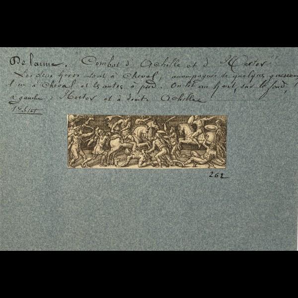 DELAUNE ETIENNE ( 1519-1583 ) - COMBAT D'ACHILLE ET D'HECTOR