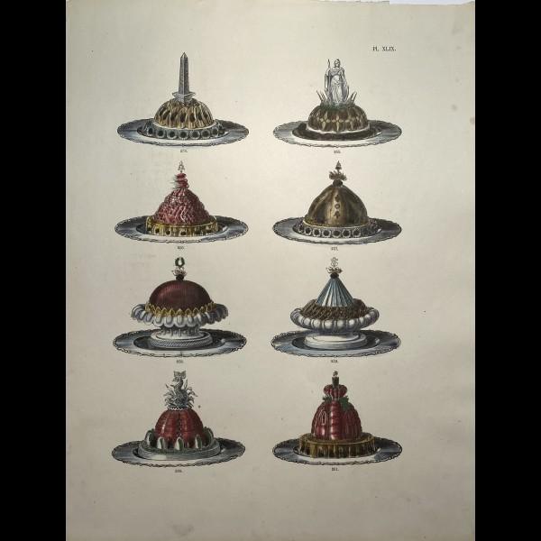 DUBOIS URBAIN  (1818 - 1901 ) - PLANCHE DE PLATS ET ENTREMETS