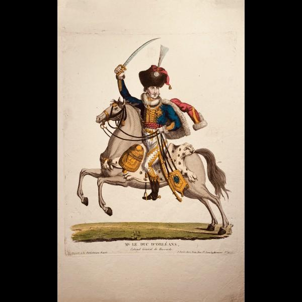 CHEZ JEAN, EDITEUR  ( CA.1820-1830 ) - MG. LE DUC D'ORLEANS, COLONEL GENERAL DE HUSSARDS