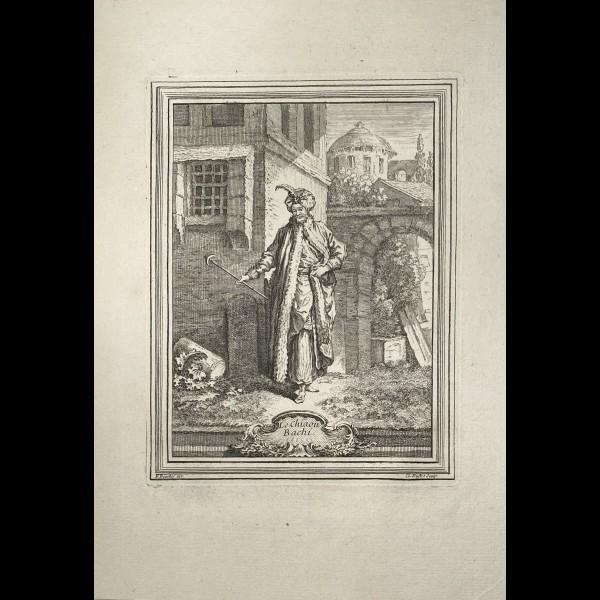 DUFLOS LE JEUNE CLAUDE (1700-1786 ) - CHIAOU BACHI