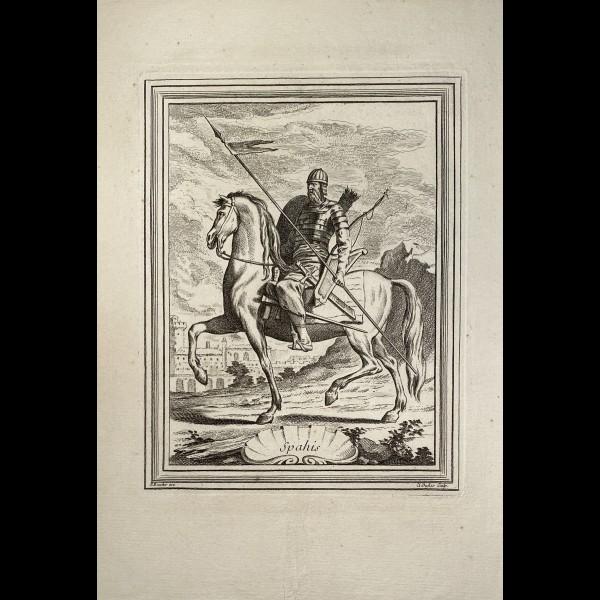 DUFLOS LE JEUNE CLAUDE (1700-1786 ) - SPAHIS
