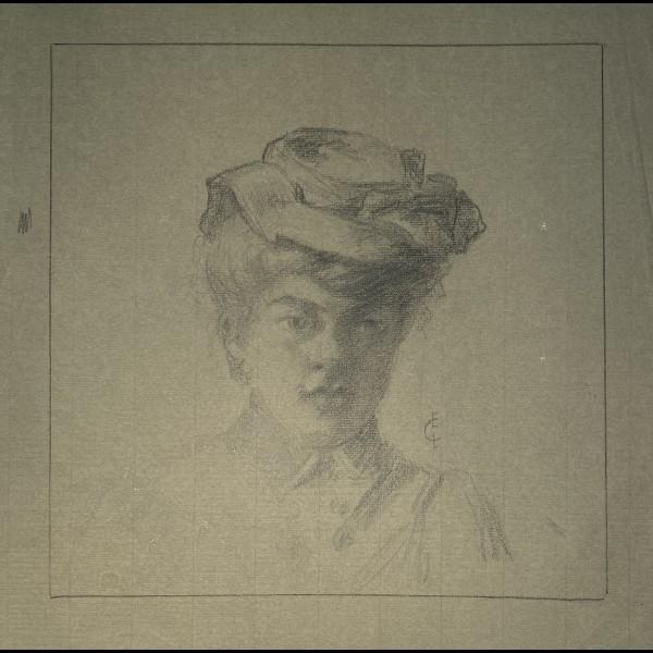 CHADWICK-LOWSTADT EMMA ( 1855-1932 ) - FEMME AU CHAPEAU