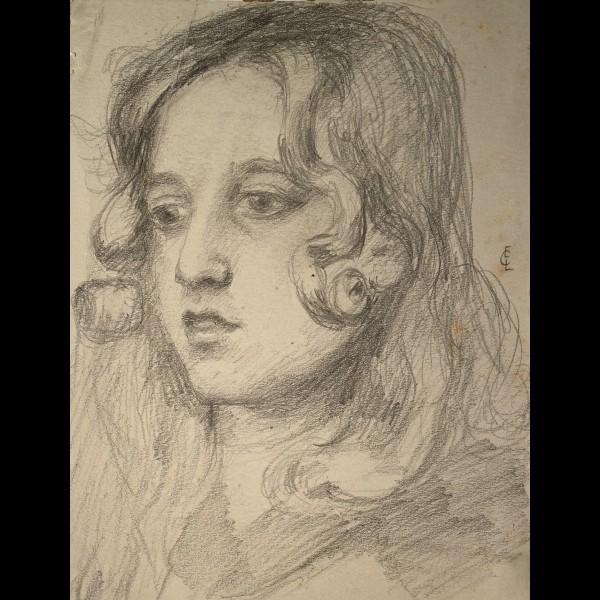 CHADWICK-LOWSTADT EMMA ( 1855-1932 ) - PORTRAIT DE FILLETTE