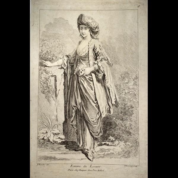 RAVENET SIMON FRANCOIS (1706-1774 ) - FEMME DU LEVANT